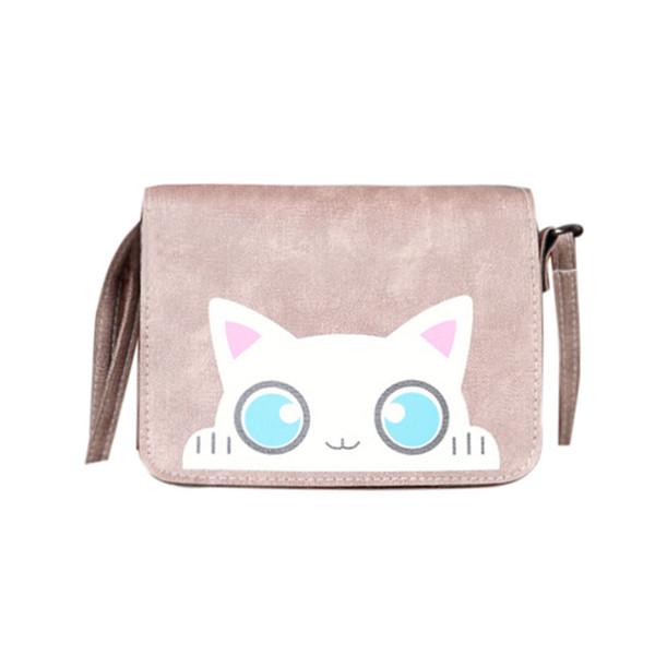2019 Hot Fashion Women Cartoon Vintage Cat Softback Pattern Shoulder Bags Women Lovely Handbags Tote Messenger Bag