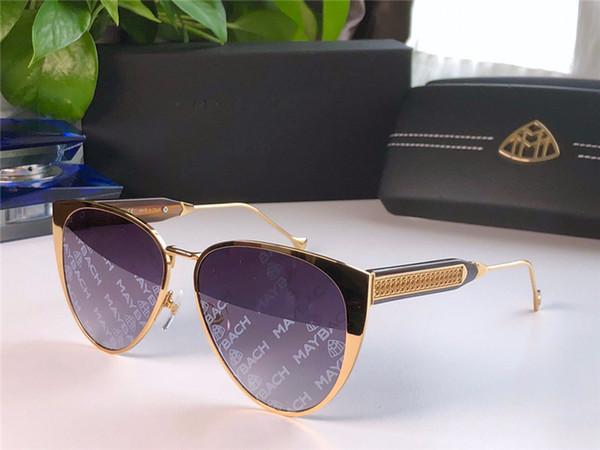 New fashion luxury car brand MAYBACH sunglasses 112 cat eye frame avant-garde design style top quality coating color printing uv400 lens