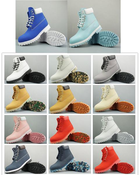 Botas impermeables de 6 pulgadas Botas premium Mujer Hombre Diseñador Deportes Rojo Blanco Zapatilla de deporte TBLD Casual Trainer para mujer para hombre Tamaño de bota ACE