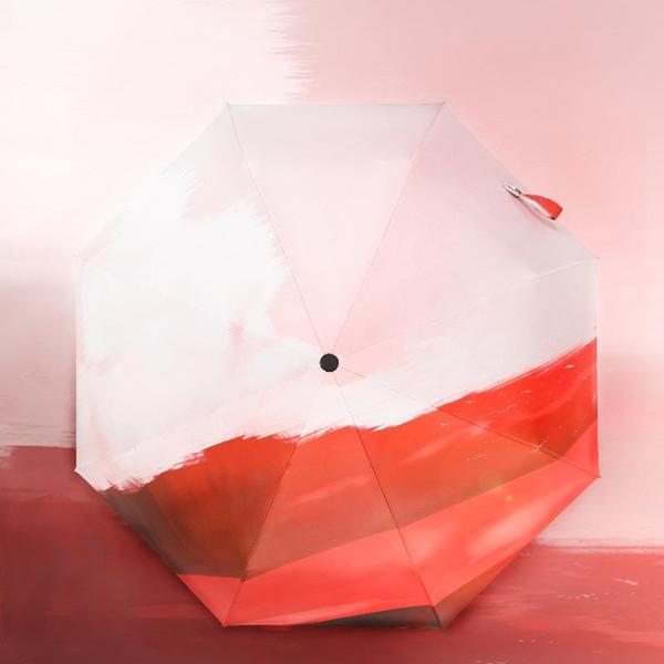Sombrilla creativa totalmente automática Super Sun Protection Anti-UV Sunny Rain Sombrilla plegable de doble propósito Sombrilla para mujer
