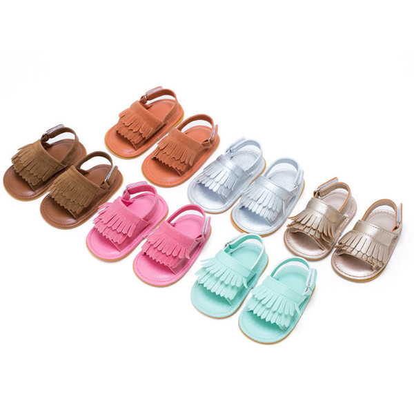 2019 Baby Shoes Girls Summer Newborn Shoes Babies Shoes For Baby Girl Solid First Walkers Leather Baby 0-1 Year Old With Fringe