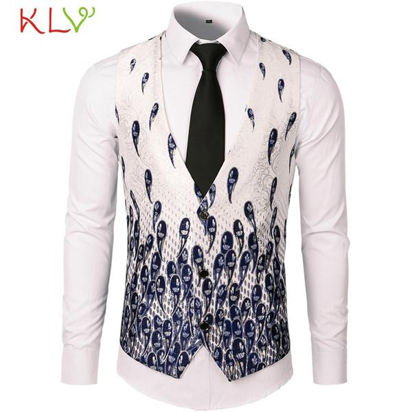 Men Winter Vest Jacket Button Print Warm Coat Casual Long 2018 New Brand Milltary Manteau Homme Hiver Plus Size 2XL 18Nov24