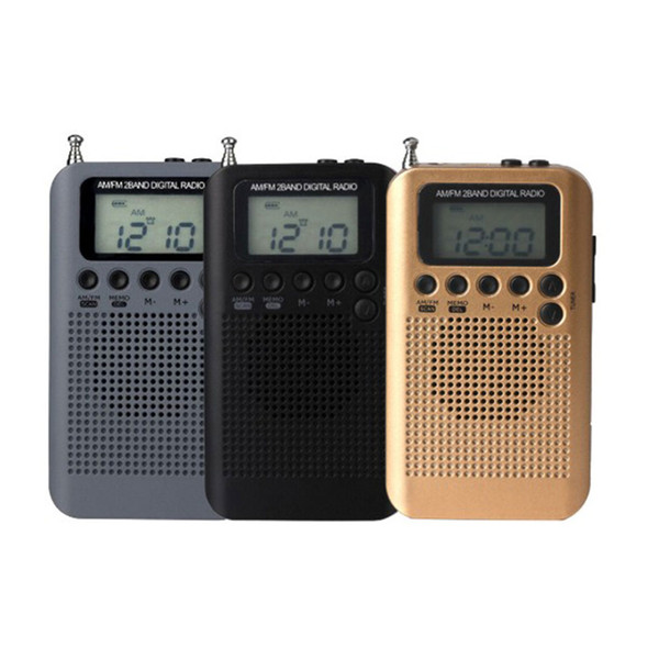 AM/FM Battery Operated Radio Wireless Portable Mini Pocket External Clear Receiver Speaker Music Player