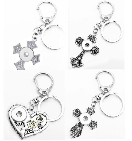 Liebe Kreuz Weihnachtsbaum Druckknopf Schmuck Schlüsselanhänger Schlüsselanhänger (fit 18mm Druckknöpfe 20mm)
