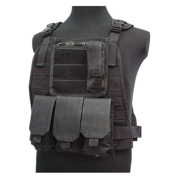 US Marine Tactical Assault Molle Piastra giubbotto CB maglia dell'elemento portante del BK