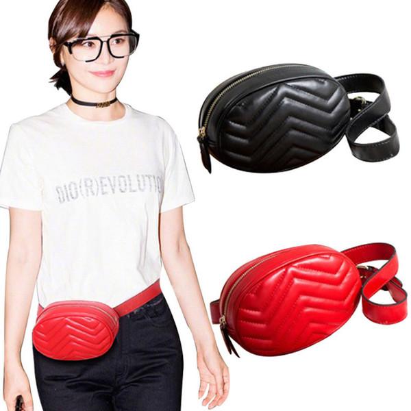 Новый конструктор кожа сердца любви V волна шаблона талия сумки женщина мужчины мешки плеча ремень Сумка женщин цепь сумка сумка