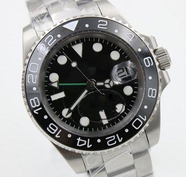 2020 мужские часы GMT 116710 серии керамический безель черное лицо gmt мужские автоматические механические часы бизнес бесплатная доставка