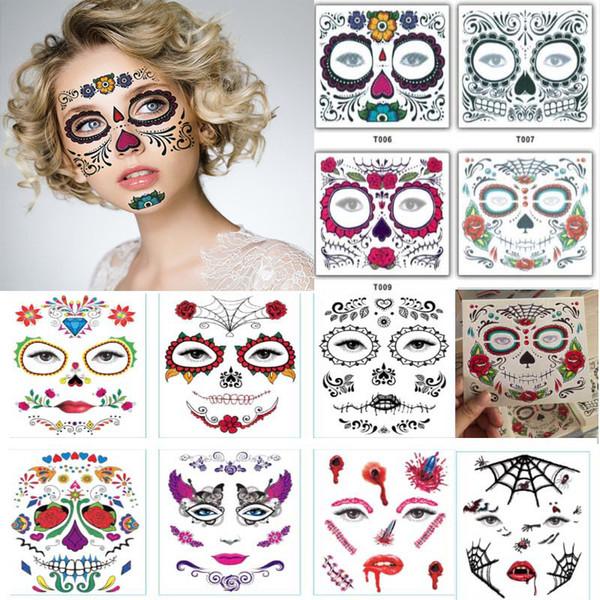 Makyaj Sahne Cadılar Bayramı Partisi için tek kullanımlık Göz Farı Sticker Magic Göz Güzellik Yüz Su geçirmez Geçici Dövme Çıkartma WX9-1510 Malzemeleri