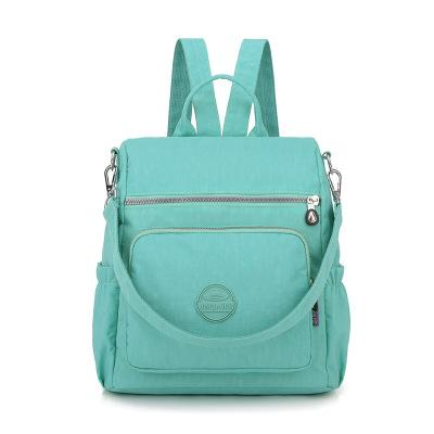 The new Oxford cloth backpack women washed nylon bag light cross-border multifunctional package #8721
