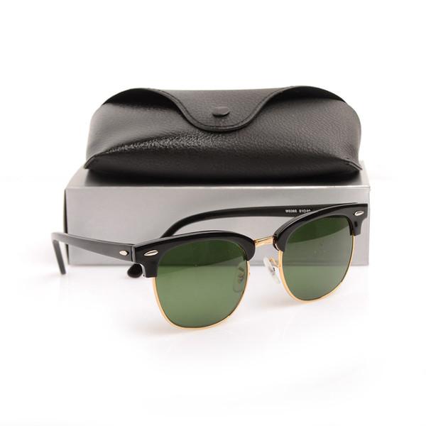 Black Frame Green Lens 51mm