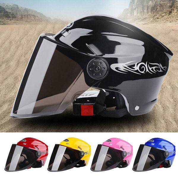 top popular Motorcycle Helmet Open Face Visor Sunscreen Helmets Black Racing Off Road Electrombile Motorbike Bike Cycling Helmets Men and Women 2021