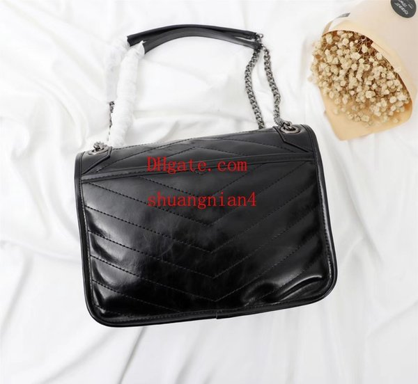 Ladies bag new T front flap bag, super large capacity oil wax leather sell like hot cakes off-w1400