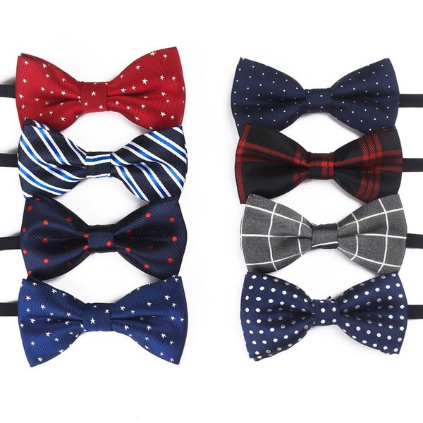 2019 New Children's Bow Tie Plaid poliestere a strisce Bow Tie per bambini Stage Suit Moda all'ingrosso transfrontaliera