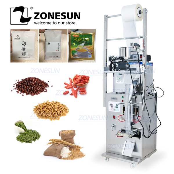best selling ZONESUN Coffee Bean Grain Automatic Weighing Packaging Machine Filling Machine Bag Back Side Seal With Date Printer