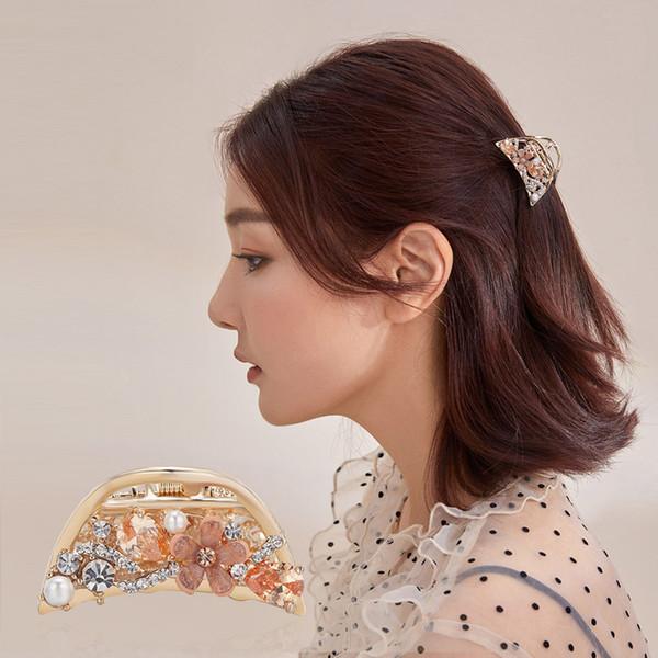 CHIMERA Elegant Women Hair Claw Crab Rhinestone Flower Butterfly Hair Pins Clips Fashion Crystal Alloy Barrette Accessories