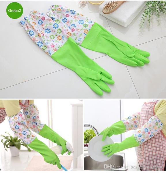 Главная Длинные рукава ПВХ Кухня CHORES Чистые перчатки Водонепроницаемые перчатки для мытья посуды Прочный бытовой Прачечная мытья посуды Перчатки BC BH0617