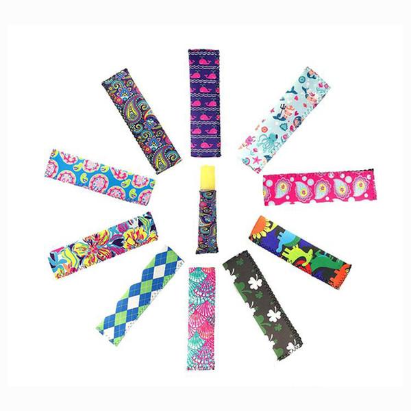 Neopreno Ice Popsicle Holder Congelador Icy Pole Ice Lolly mangas Protector para herramientas de helados titular de paletas