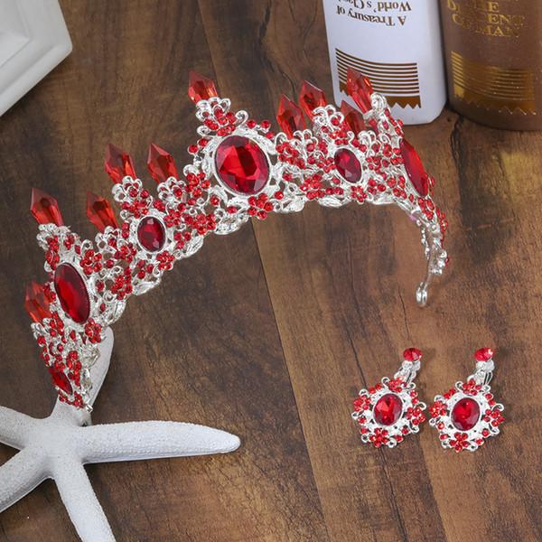 8 Farben Hochzeit Crown Queen Braut Diademe Braut Krone 2019 Stirnband Hochzeit Zubehör Diadem Mariage Haarschmuck Ornamente
