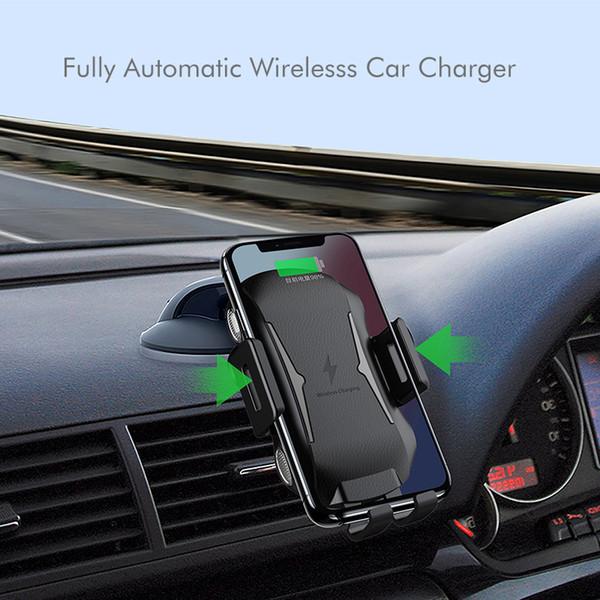 Drahtloses Autoladegerät X318 10W Qi Volle automatische Klemmhalterung wirelss schneller Ladegerätautoentlüftungs-Telefonhalter mit Kleinpaket