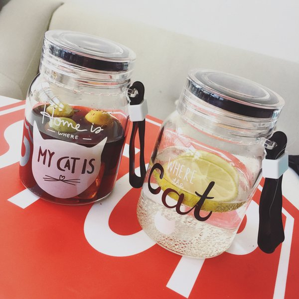 High Quality Glass Water Bottle Bpa free Juice Cola Coffee Cups+Mugs Fruit Glass Water Cup for Travel Outdoor sports Car