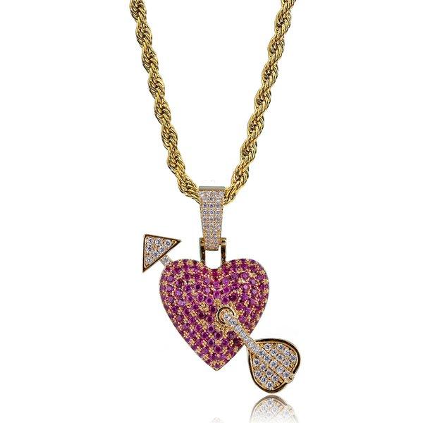 Arrow through Heart Gold