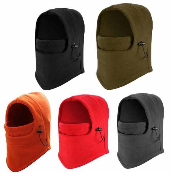 Adjustable One Size Fits Most Winter Fleece Scarf Neck Cold Weather Warmer Face Mask Skiing Cycling Hiking Mask #3D12