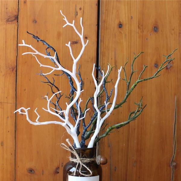 Plástico artificial rama oscuridad bruja DIY cornamenta diadema accesorios cuernos árbol falso bifurcado blanco decoración navideña