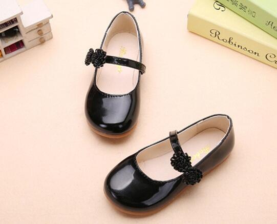 ee72c68b Zapatos de otoño para niñas Princesa para niños Planos de cuero de PU para  niños Zapatos casuales con flores Zapatos para mostrar de fiesta