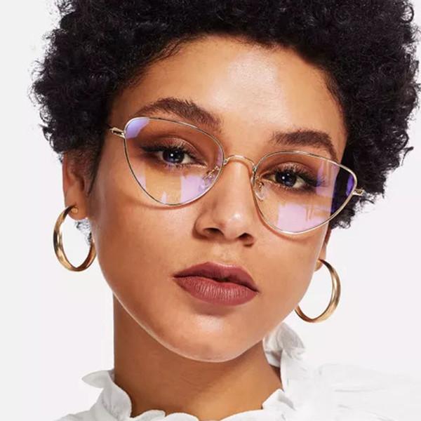 2019 sexy damen cat eye sonnenbrille frauen mode optik eyewear vintage metallrahmen sonnenbrille für weibliche uv400