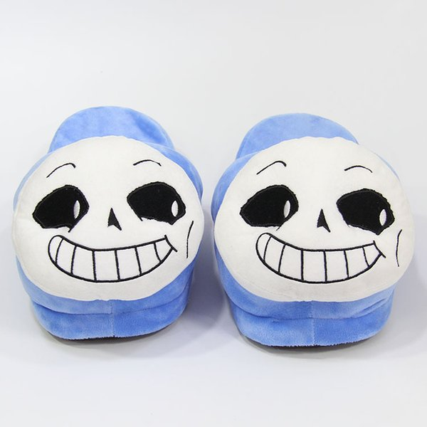 Winter Indoor Undertale Sans Slippers Flat Furry Home Cartoon Women emoji Plush Slippers unisex Couple Animal Warm Non-slip Shoes LE385