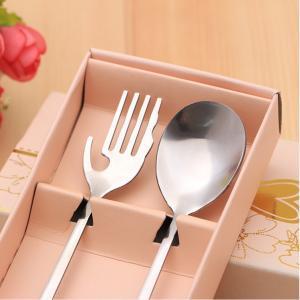 Heart Shaped Fork Spoon Set Silverware Stainless Steel Flatware Girls Kids Cutlery Set 2pcs Love Wedding Favor LLA288