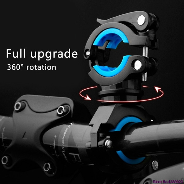 2019 New Bycicle 360 Rotating Light Double Holder Front Flashlight Lamp Pump Handlebar Bicycle Flashlight Mount Holder #137147