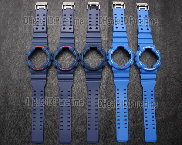 Compre Nueva Correa De Reloj De Silicona De es Correa De Reloj Hebilla De Metal Para GA 110 GA 100 GA 120 GD 100 GD 110 Accesorios Impermeable Para