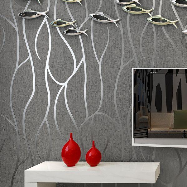Großhandel Moderne Tapete Wohnkultur Für Schlafzimmer Wohnzimmer  Wandverkleidungen Geprägte Textur 3D Linien Luxus Streifen Tapeten 10 Mt  Von Williem, ...