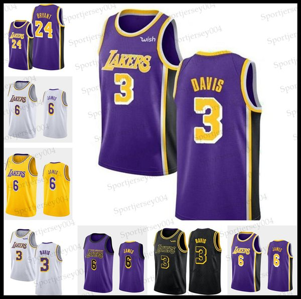 pretty nice 06f15 26fc1 2019 Laker Jersey Los Angeles Ncaa 100% Stitched Cheap James Bryant Kuzma  LeBron 23 James Anthony 3 Davis Jersey 24 Kobe Basketball Jersey From ...