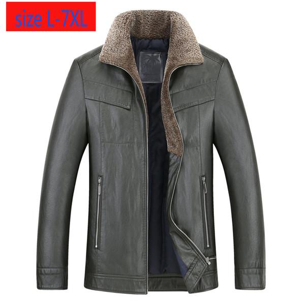 Chegada Nova Moda Suepr Grande Inverno de Down Homens de couro mais grosso soltas casaco quente ocasionais dos revestimentos Mais de LXL2XL3XL4XL5XL6XL7XL Tamanho