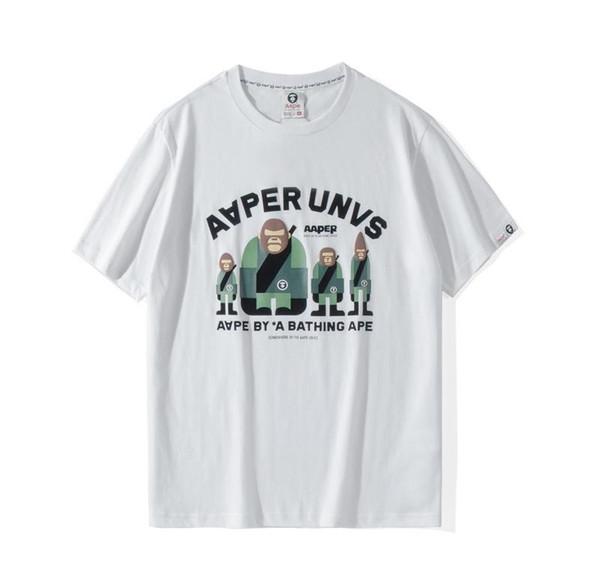 AAPE T-shirt Mode Hommes Designer Impression haute qualité T-shirt des femmes des hommes Designer AAPE Tee SizeXXLVlong
