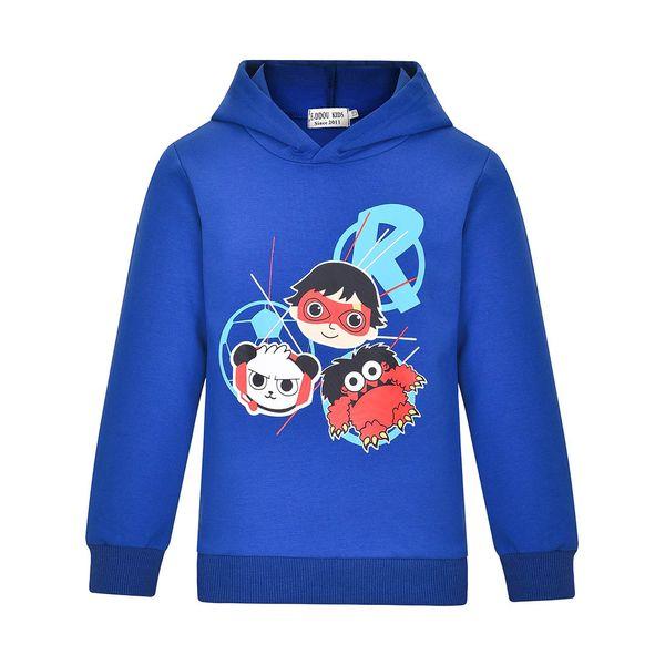 best selling Boys Girls Ryans Hoodie World Vlogger YouTube ryan's Toys Review Kids Captain Costumes sweatshirt long sleeve t shirt tops jumper 3-11years