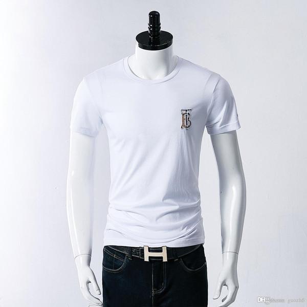 2018 мода мужская с длинными рукавами мода хлопок весна осень дизайнер одежды шею спортивные футболки мужские футболки