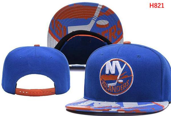 Нью-Йорк Айлендерс Хоккей Вязать Шапочки Вышивка Регулируемая Шляпа Вышитые Snapback Шапки Черный Серый Белый Сшитые Шляпы Один Размер