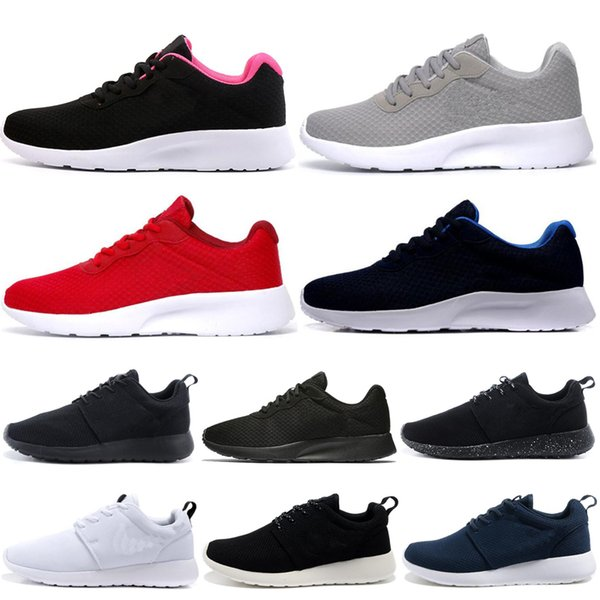 Compre Nike Air Roshe Run One 2019 Nuevo Tanjun Run Running Shoes Hombre Mujer Negro Bajo Ligero Transpirable London Olympic Sports Sneakers Para