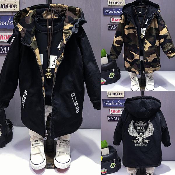 top popular Boys spring jacket 3-15T children long sleeve hooded active windbreaker teenage clothes big boys cool sport coat boys outwear 2019