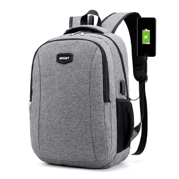 good quality Large Usb Charging Bagpack College Teenagers Laptop Backpack For Women Men School Bag Female Male Travel Mochila Feminina