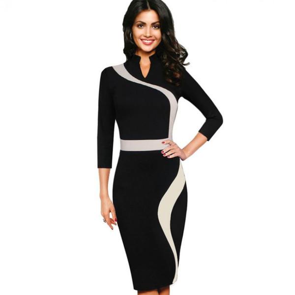 Knitting Dress Long Sleeves Autumn and Winter European Elegant Slim Patchwork Slim Bodyon One-piece Dress New Arrival