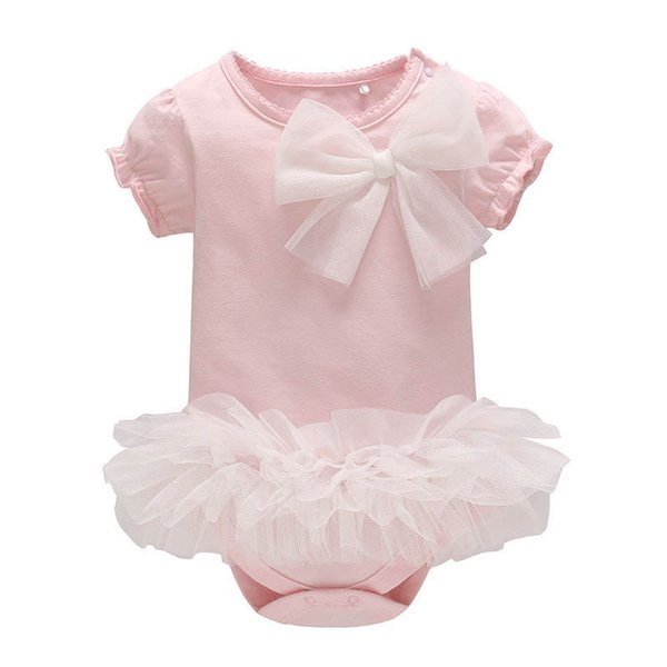 Cute baby romper lace baby girl romper cotton princess Newborn Romper Infant Jumpsuit One Piece Clothing newborn baby girl clothes A4385