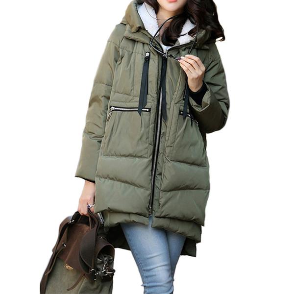Abrigo de invierno Mujer de la capa del invierno prendas de vestir exteriores de las mujeres de moda de Mantener caliente de la hembra acolchados Parka Mujeres Abrigo de Corea ropa de las mujeres