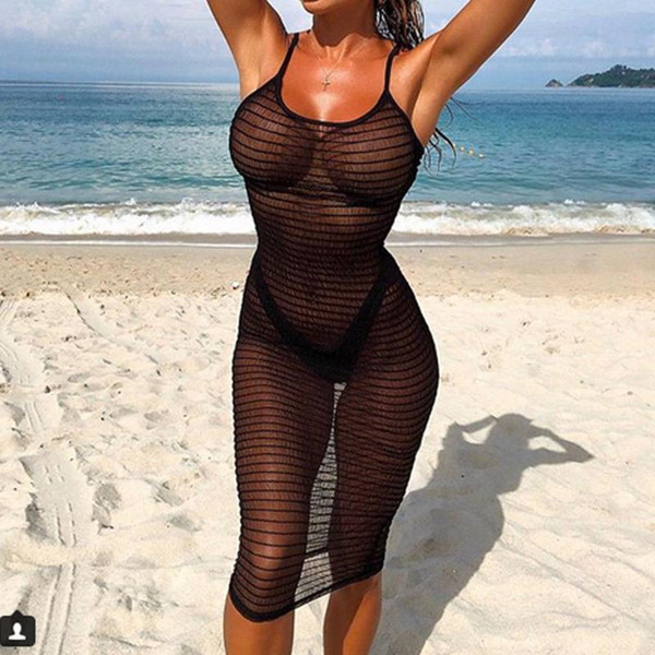 2020 Lace Sexy Summer Crochet Bathing Suit Bikini Swimwear Cover Up Beach Dress Hollow Out for Womens