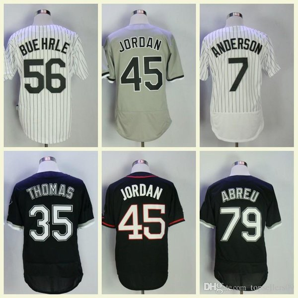 Men jersey 72 Carlton Fisk 56 Mark Buehrle 45 Michael 8 Bo Jackson 21 Todd Frazier Baseball Jerseys