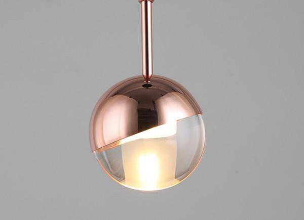 Loft Nordique Rose Or cristal boule Pendentif Lumière Personnalité Concepteur Allée Bar Salon Suspension De Chevet Luminaires LLFA