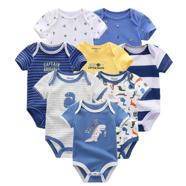 2019 8pcs/lot Clothing Sets Cotton Newborn Unicorn Baby Girl Clothes Bodysuit Baby Clothes Ropa Bebe Baby Boy Clothes Y19050801
